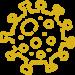 coronavirus icon yellow
